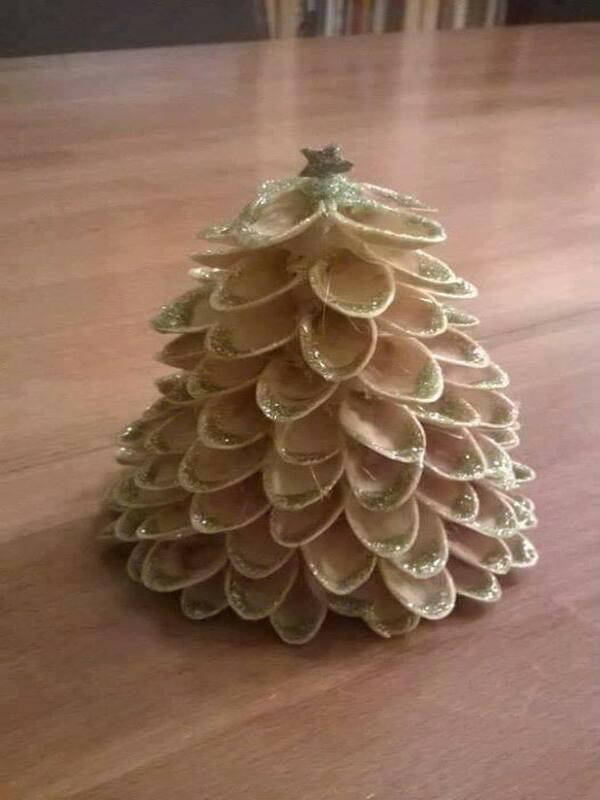 árboles de navidad a mano