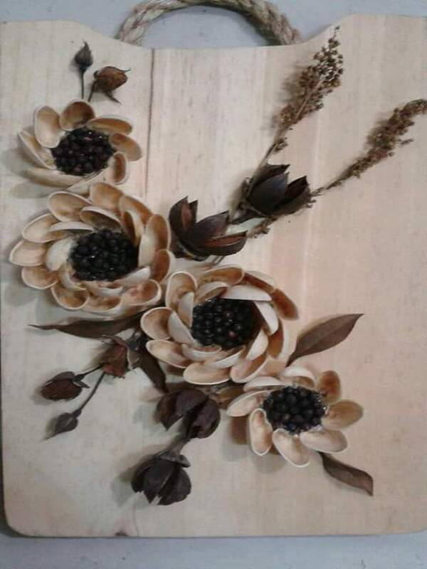 manualidades con cascara de pistacho