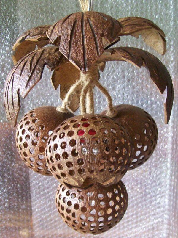 manualidades con cocos secos