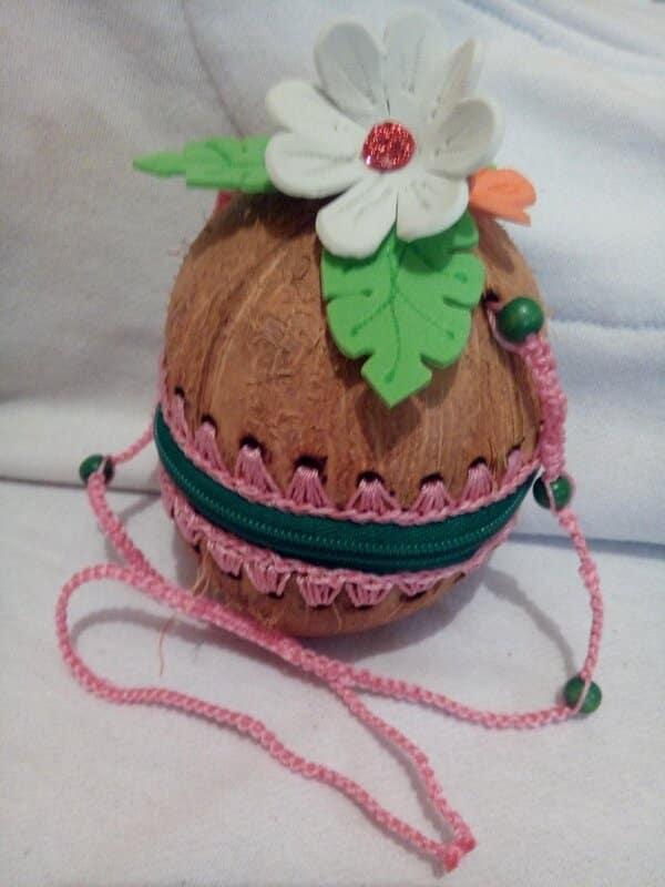 manualidades con cocos secos bolsa