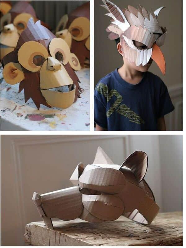 mascaras hechas con papel paso a paso