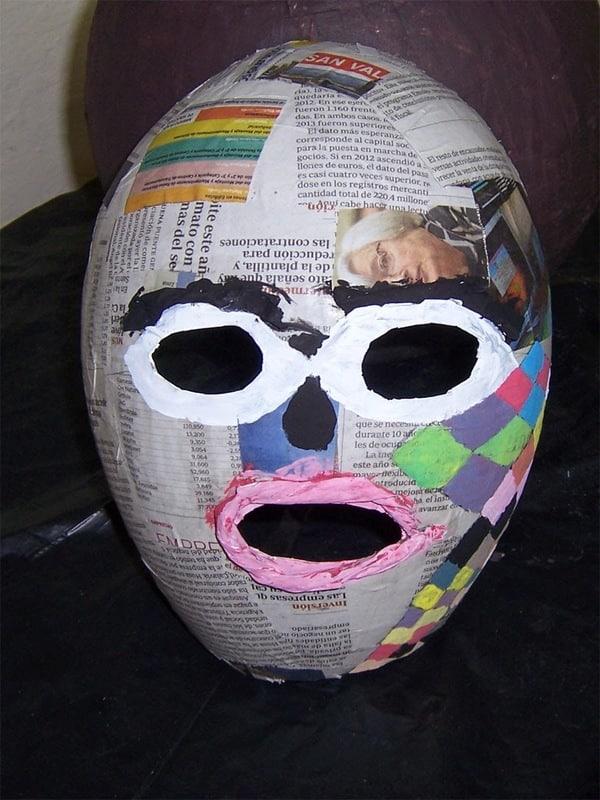 mascaras hechas de papel