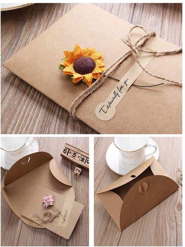tarjetas de papel hechas a mano muy sencillas