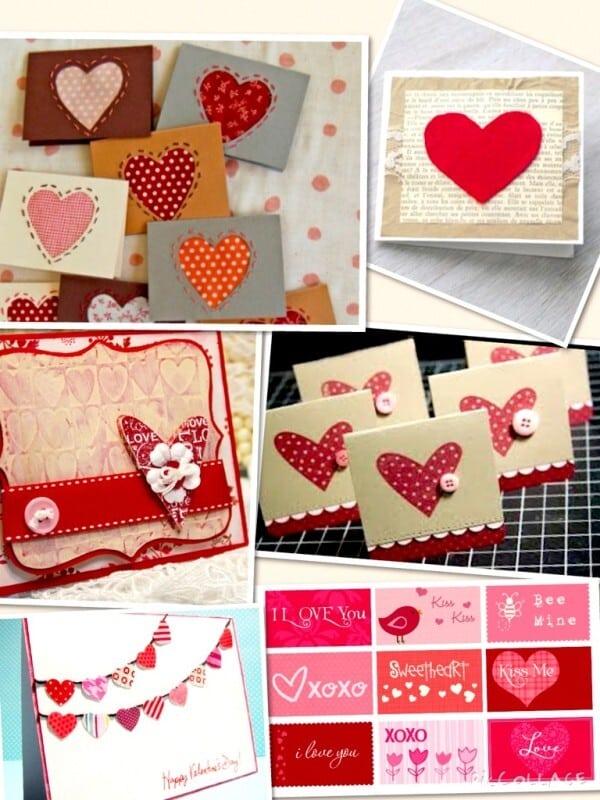 tarjetas de papel hechas a mano